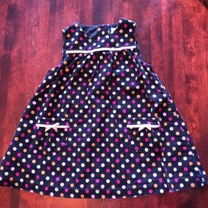 Gymboree polkadot corduroy dress